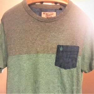 penguins mint green & gray tshirt size m
